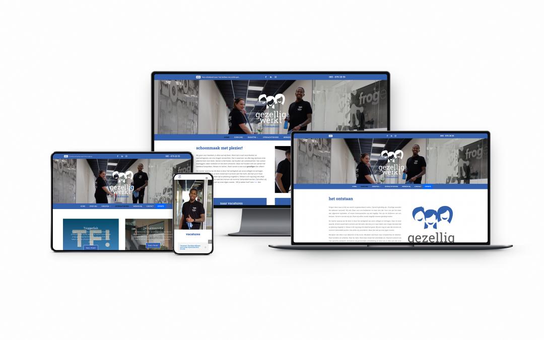 Nieuwe website: Gezellig Werkt Schoonmaak